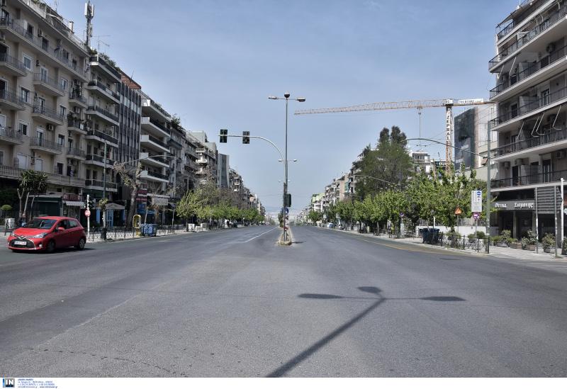Αδειοι δρόμοι στην Αθήνα