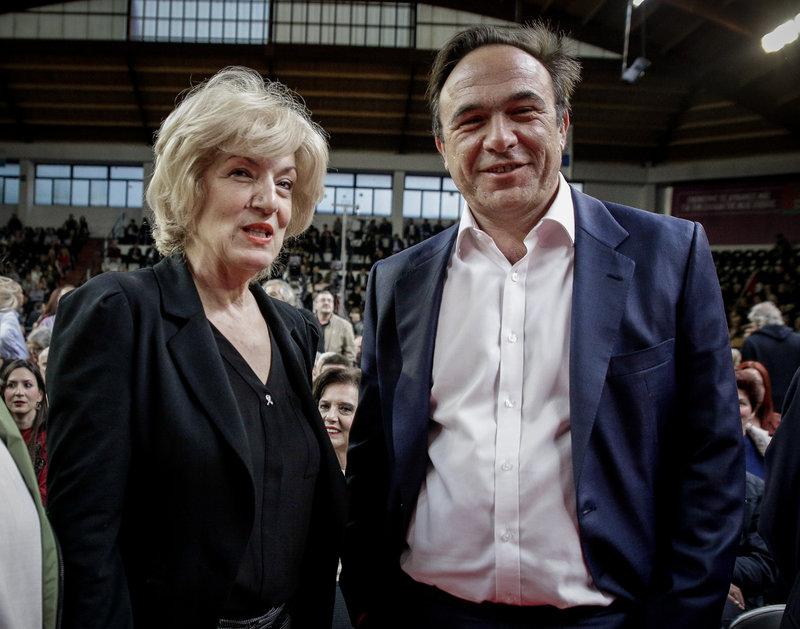 Ο Πέτρος Κόκκαλης και η Σία Αναγνωστοπούλου -Φωτογραφία: EUROKINISSI/KOSTAS VILLA