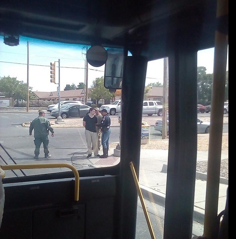 Στιγμιότυπο από τη σύλληψη του μακελάρη του Ελ Πάσο, Πάτρικ Κρούζιους.