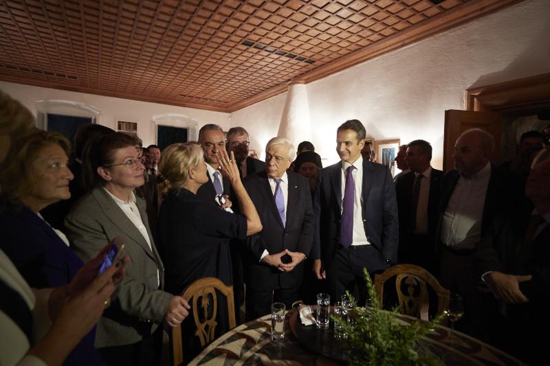 Ο Πρόεδρος της Δημοκρατίας, Προκόπης Παυλόπουλος, & ο πρωθυπουργός Κυριάκος Μητσοτάκης
