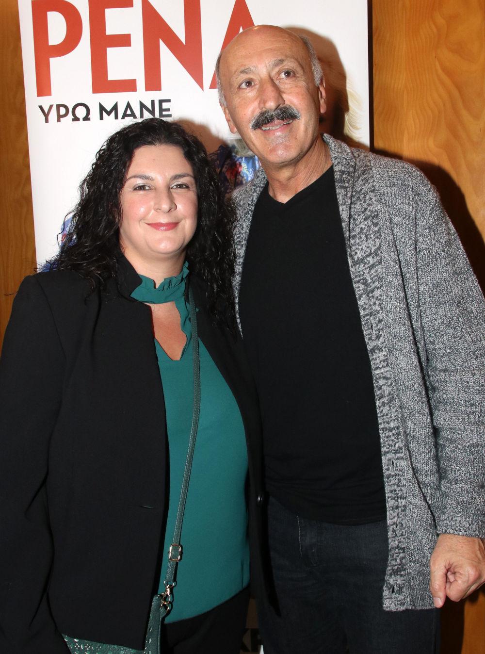 Ο Παύλος Ορκόπουλος με την κόρη του Βάσω στην θεατρική παράσταση «Ρένα»