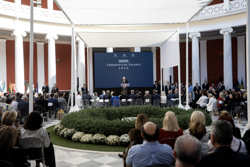 Στο βήμα ο Πρόεδρος της Δημοκρατίας, Προκόπης Παυλόπουλος