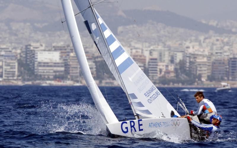 Ο Λεωνίδας Πελεκανάκης στους Ολυμπιακούς της Αθήνας το 2004