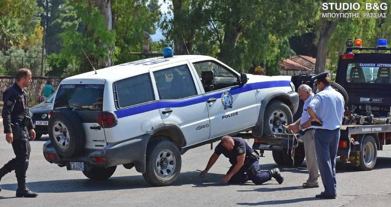 Το περιπολικό της αστυνομίας δεν μπορούσε να κινηθεί