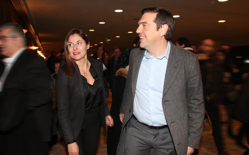 Ο Αλέξης Τσίπρας με την Περιστέρα Μπαζιάνα