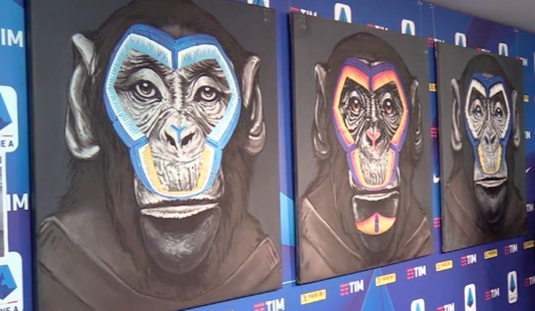 Πίνακες με χιμπατζήδες