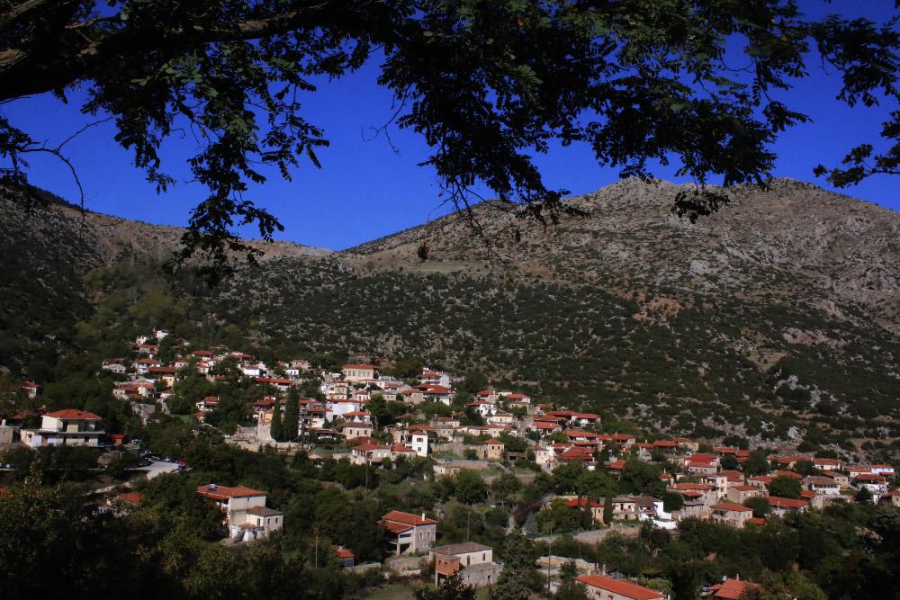 Πανοραμική θέα από το χωριό Καρυά στην Αργολίδα