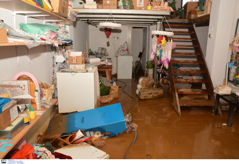 Πλημμυρισμένο σπίτι στη Καρδίτσα