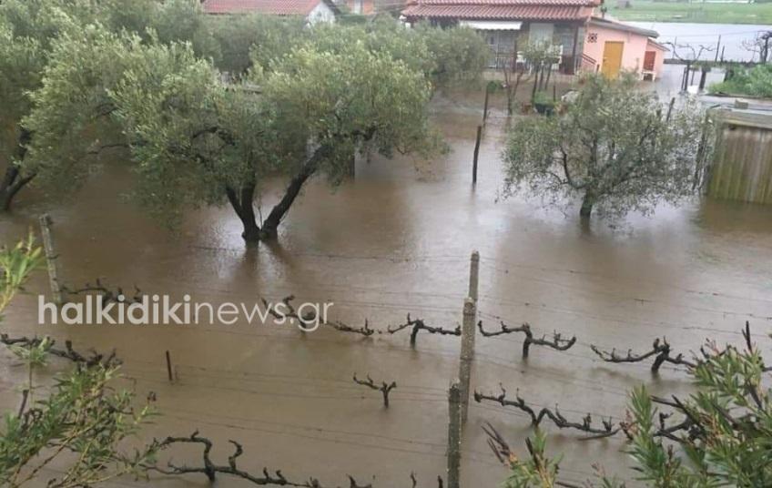 Πλημμύρες στην Χαλκδική