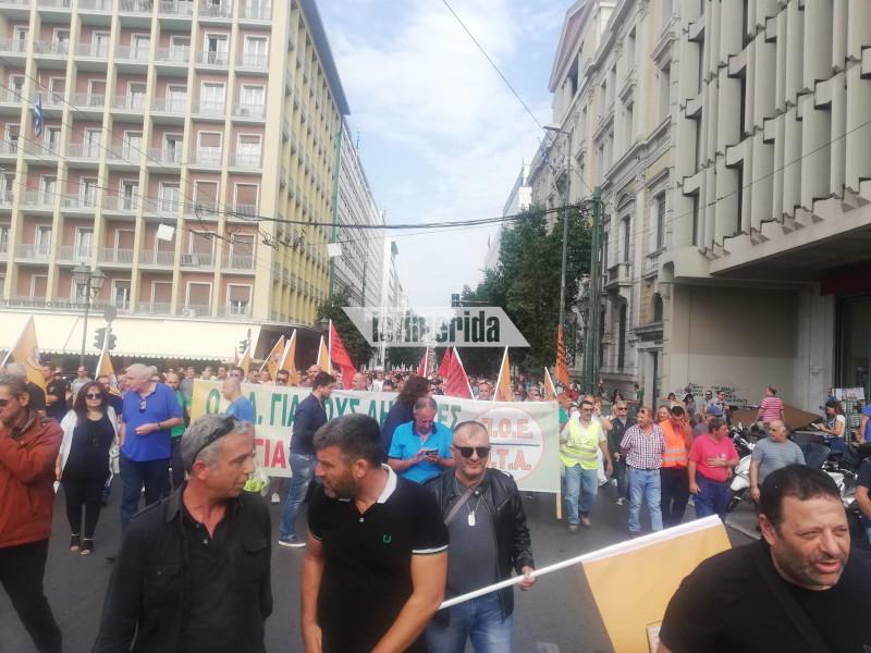 Εργαζόμενοι της Τοπικής Αυτοδιοίκησης στην πορεία