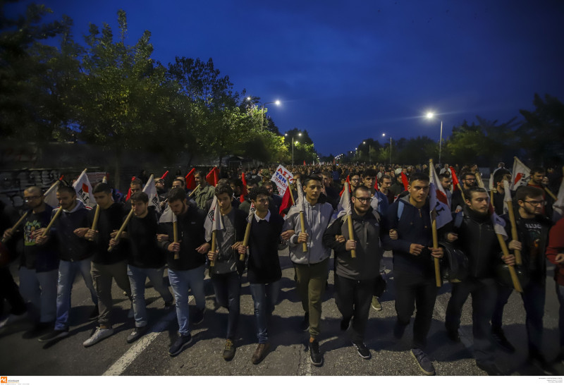 Πορεία για την 46η επέτειο του Πολυτεχνείου στη Θεσσαλονίκη / Φωτογραφία: INTIME NEWS