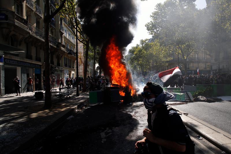 Βίαια επεισόδια στη Γαλλία στην πορεία για την κλιματική αλλαγή / Φωτογραφία: AP