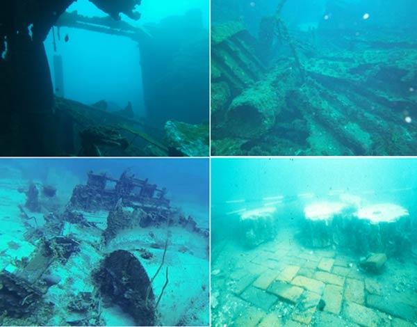 Τώρα μεγάλο μέρος της πόλης που χτυπήθηκε από φυσικές καταστροφές, μπορεί να φανεί υποβρύχια