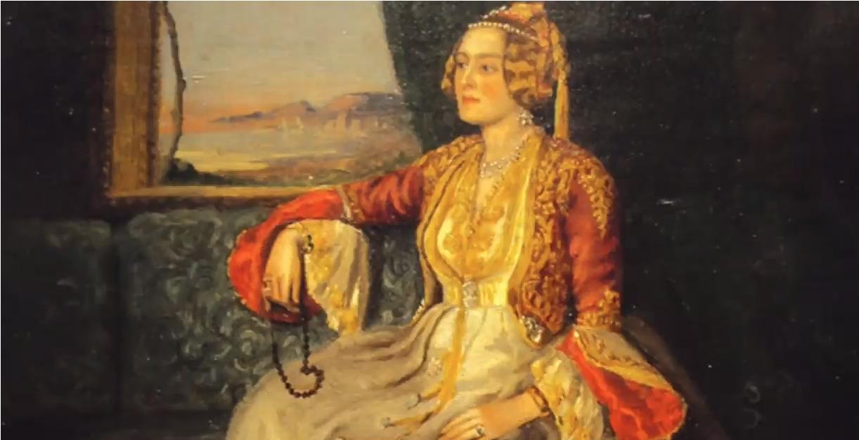 Πίνακας ζωγραφικής δείχνει μια γυναίκα να κοιτά έξω από το παράθυρο