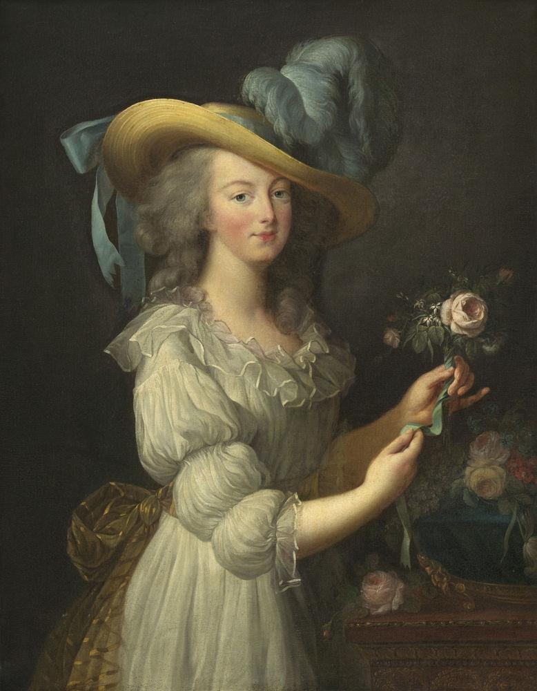 Πορτρέτο της Μαρίας Αντουανέτας από την Γαλλίδα ζωγράφο Mαρί Λουίζ Eλίζαμπεθ Bιτζί-Λεμπρούν