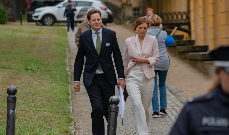 Ο πρίγκιπας Γκέοργκ με τη σύζυγό του Σοφία
