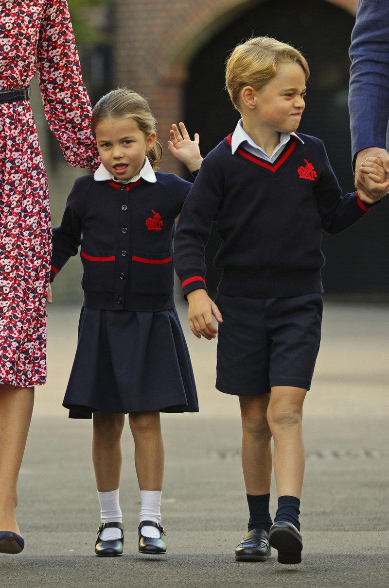 πρίγκιπας Τζορτζ πριγκίπισσα Σάρλοτ πρώτη ημέρα στο σχολείο 2019