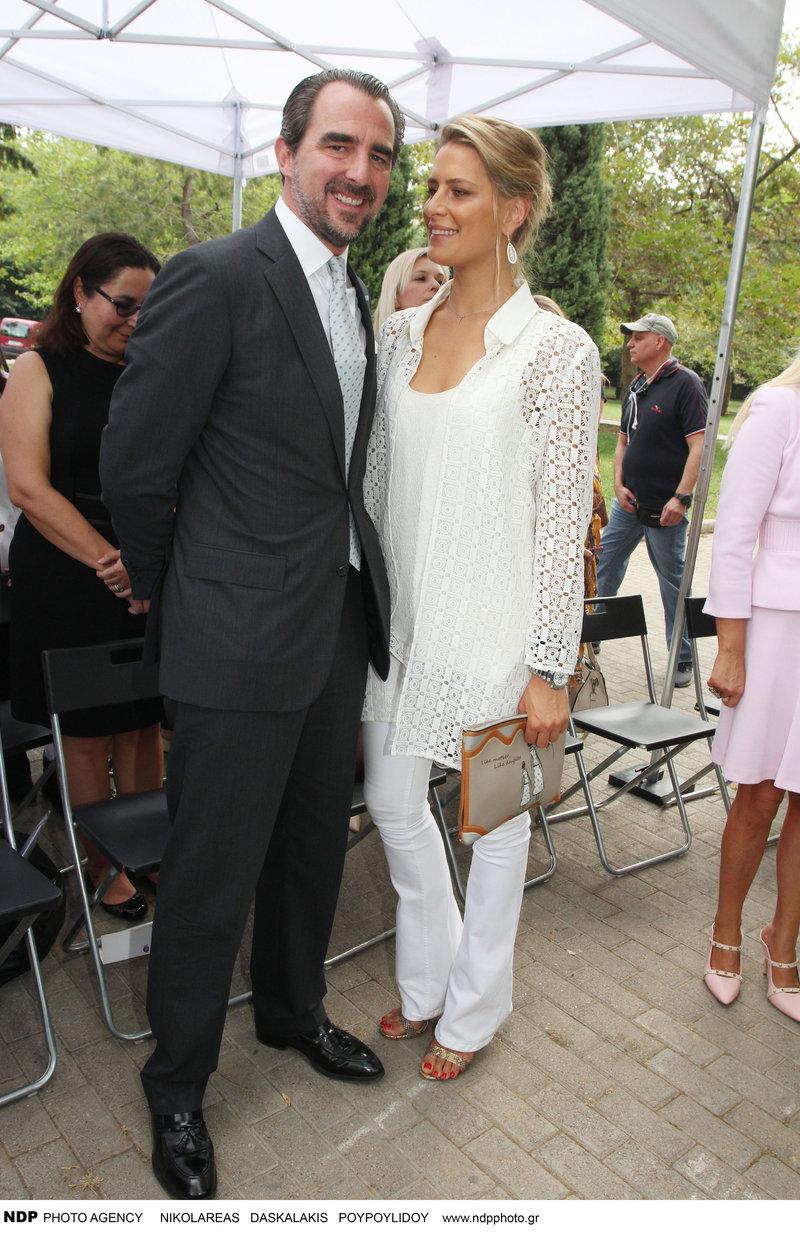 Τατιάνα Μπλάτνικ αγκαλιά με Νικόλαο Γλίξμπουργκ