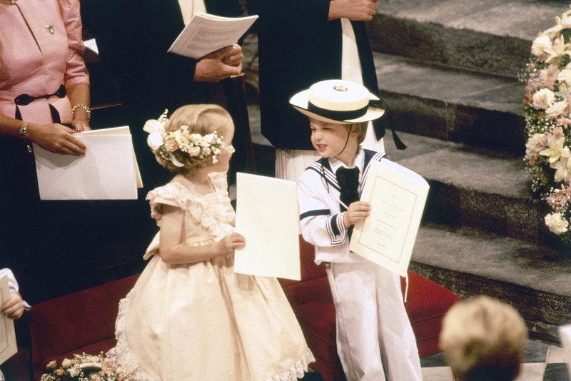 Ο 4χρονος πρίγκιπας Γουίλιαμ στον γάμο του πρίγκιπα Άντριου