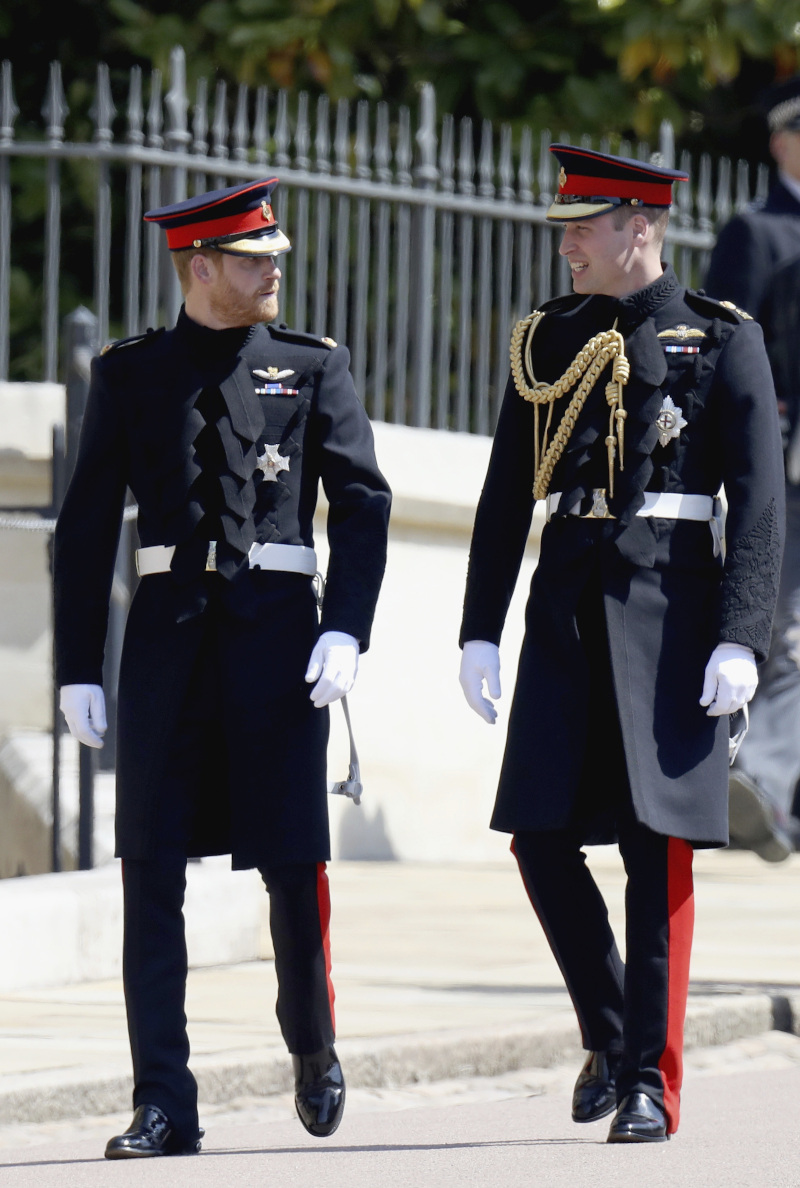 Οι πρίγκιπες Χάρι και Γουίλιαμ την ημέρα του γάμου του Χάρι