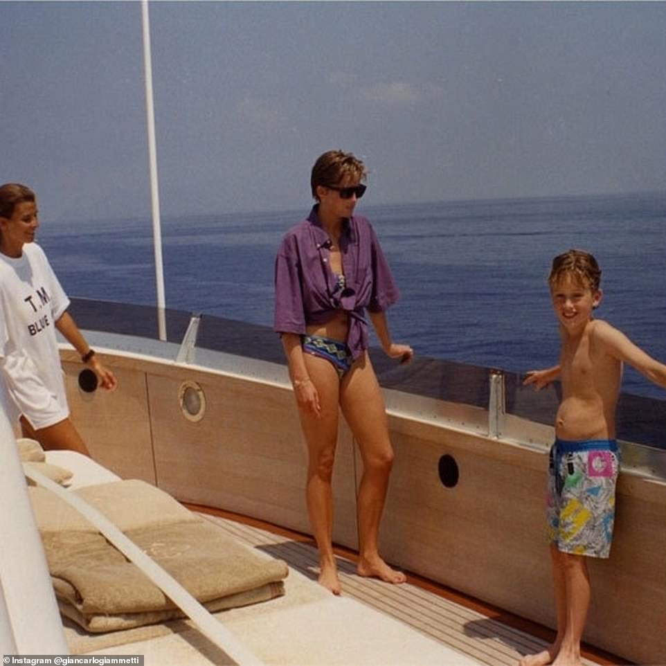 Η πριγκίπισσα Νταϊάνα στο σκάφος του Valentino