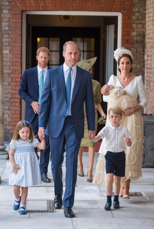 Η οικογένεια Κέμπριτζ στην βάπτιση του πρίγκιπα Λούις