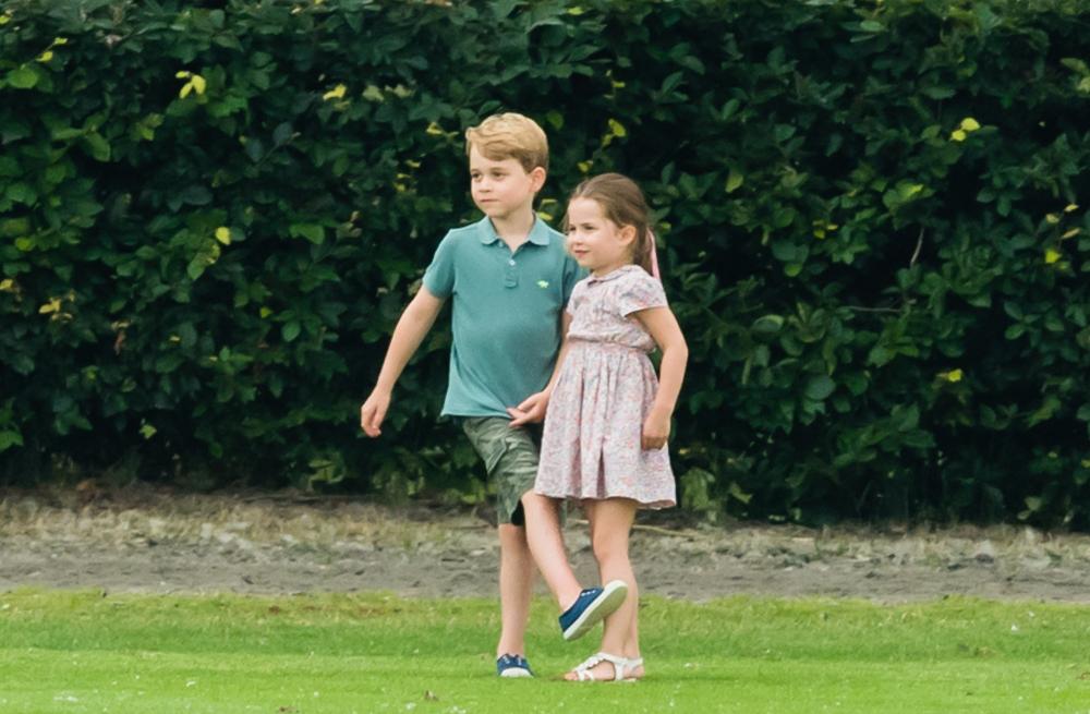 Ο πρίγκιπας Τζορτζ και η πριγκίπισσα Σάρλοτ