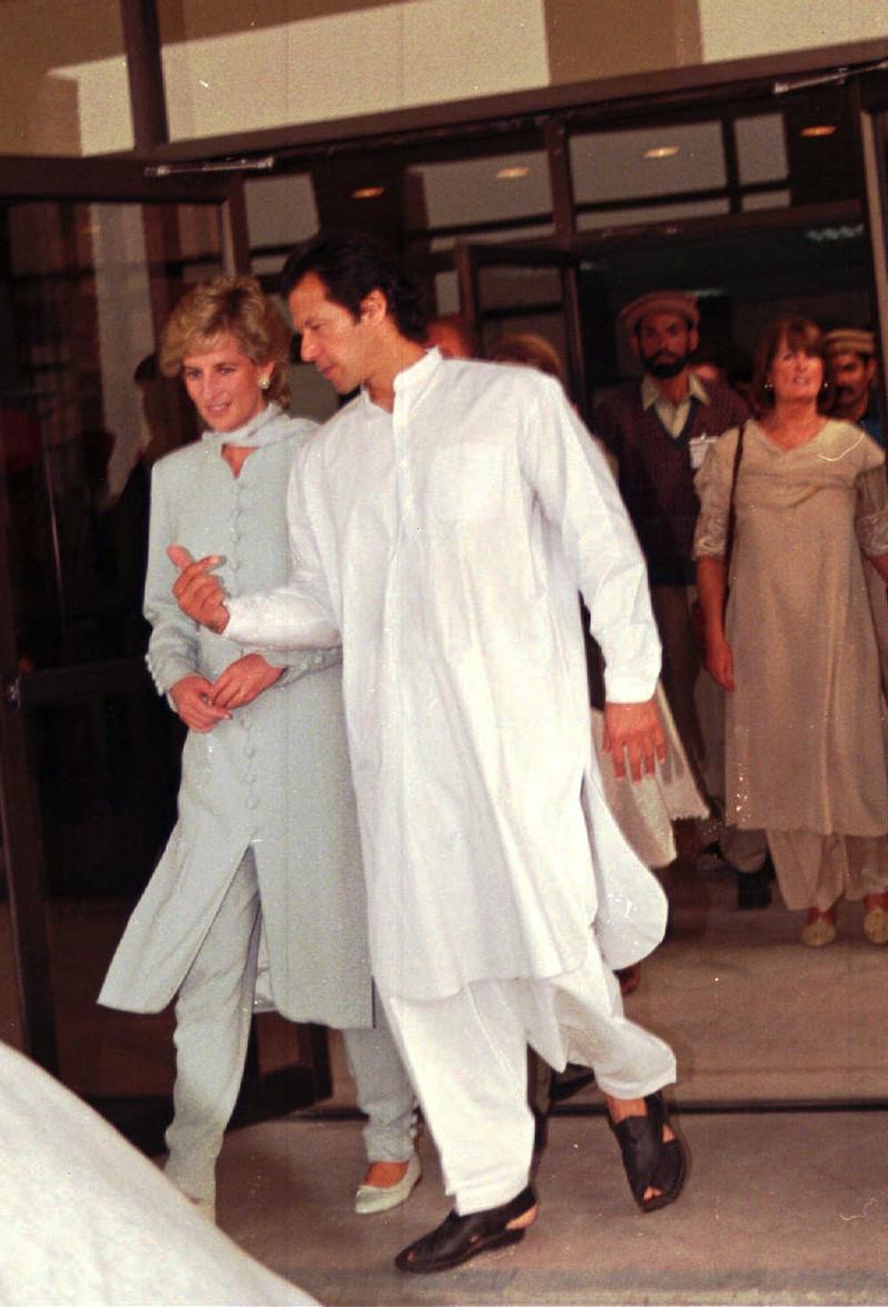 Η πριγκίπισσα Νταϊάνα με τον Ιμράν Καν