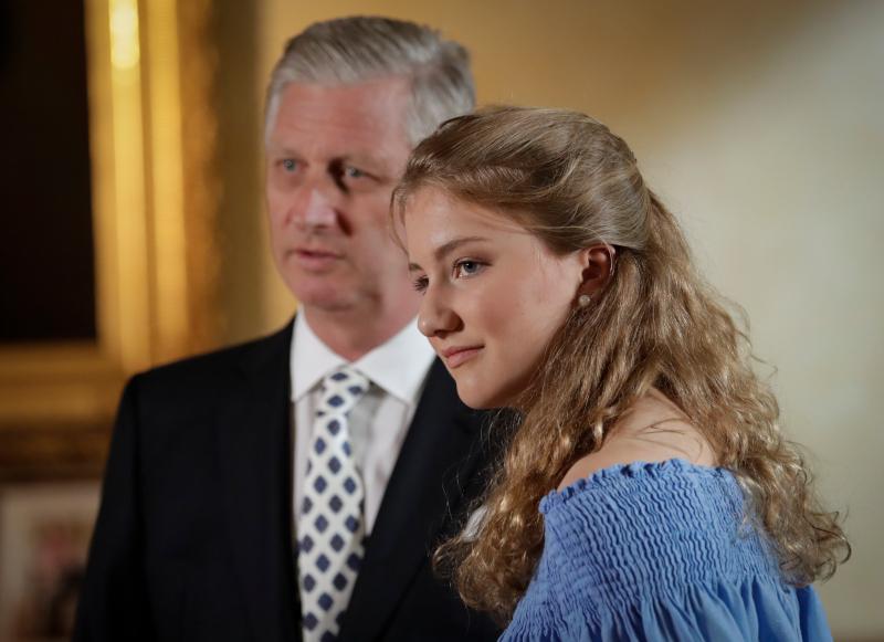 Η πριγκίπισσα Ελισάβετ με τον πατέρα της, βασιλιά Φίλιππο του Βελγίου