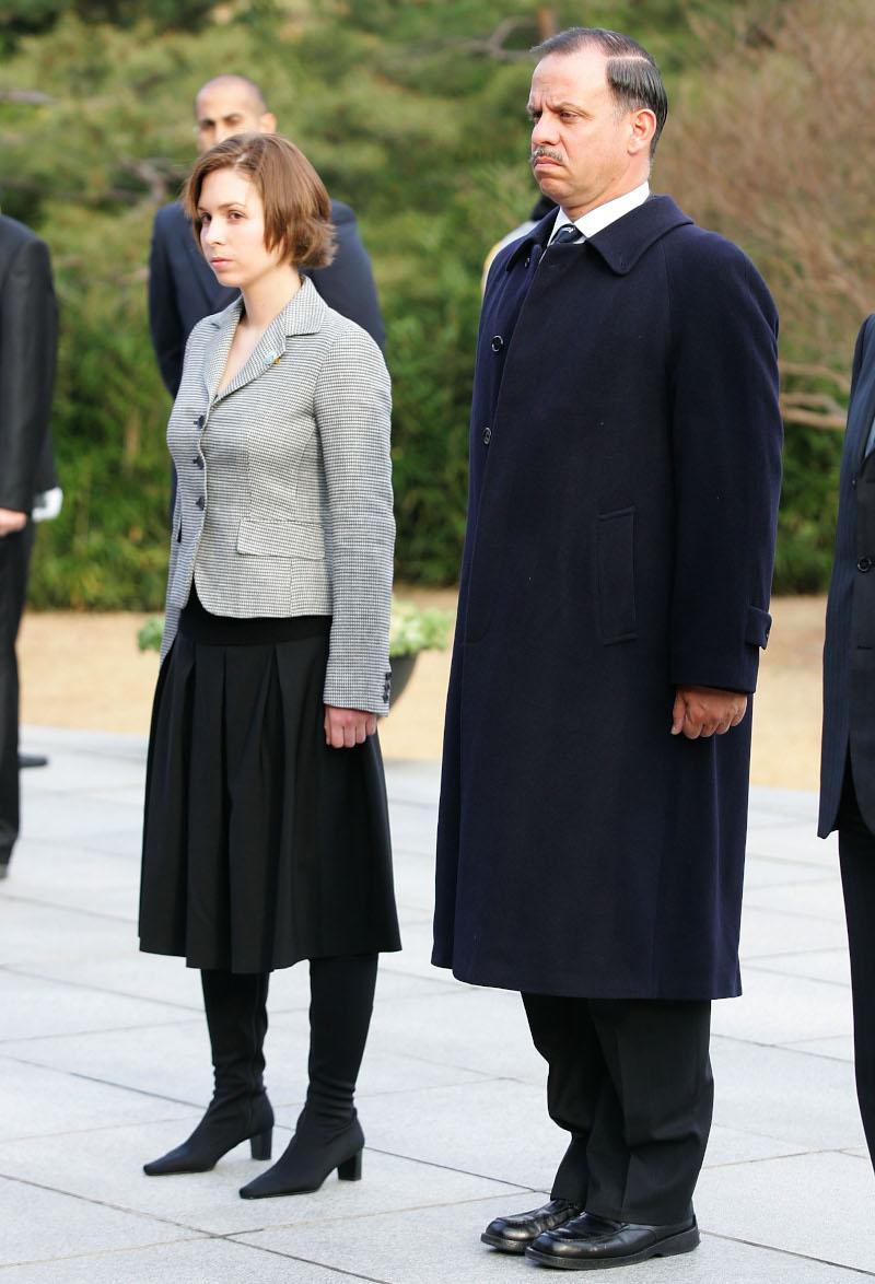 Η πριγκίπισσα Ράγια της Ιορδανίας με τον πρίγκιπα Φεϊσάλ σε επίσκεψη στην Νότια Κορέα