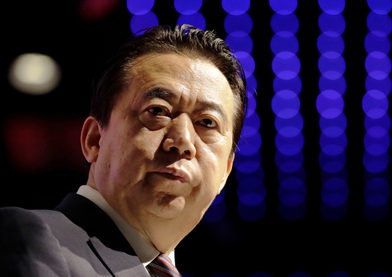Ο πρώην επικεφαλής της Interpol, Μενγκ Χονγκουέι / Φωτογραφία: AP