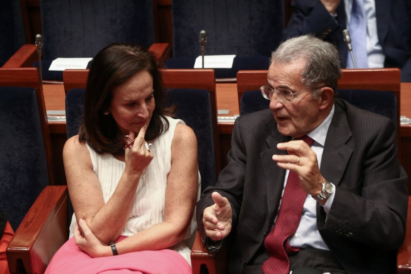 Ο Ρομάνο Πρόντι κσι η Αννα Διαμαντοπούλου