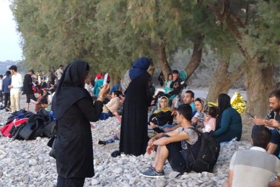 Πρόσφυγες στις ακτές της Λέσβου