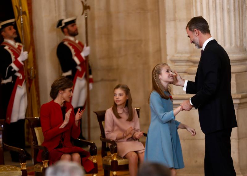 Περήφανος ο βασιλιάς Φελίπε στην πρώτη ομιλία της κόρης του, πέρυσι τον Οκτώβριο