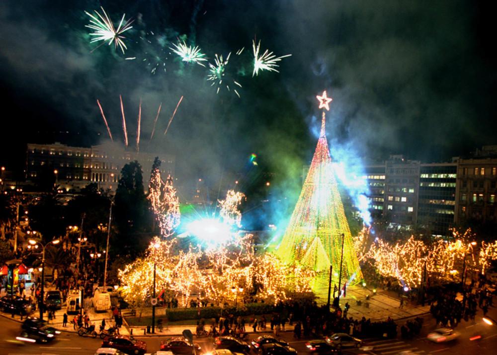 Το άναμμα του Χριστουγεννιάτικου δέντρου το 2002