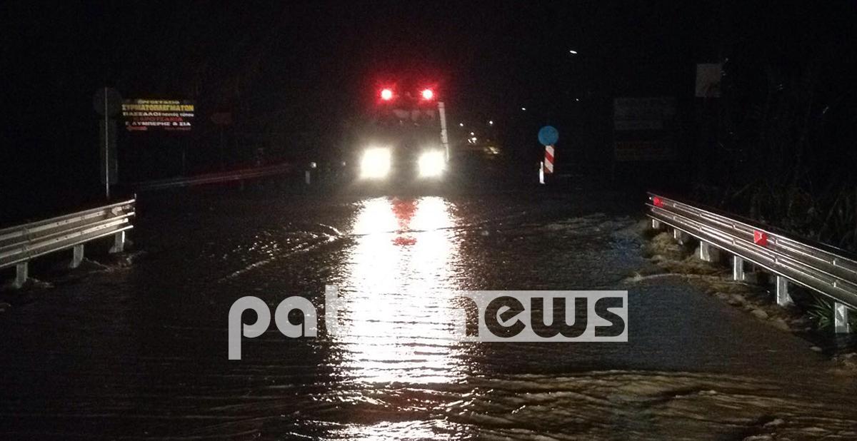 Πύργος Ηλείας: Πλημμυρισμένα σπίτια και δρόμοι