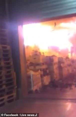 Πυρκαγιά σε αποθήκη κρασιού