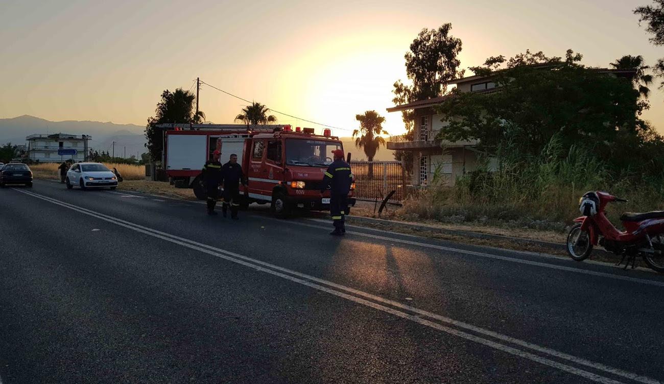 Πυροσβεστική σε δρόμο στη Νέα Κίο