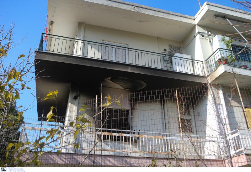 Το σπίτι στα Μελίσσια που ξέσπασε η φωτιά
