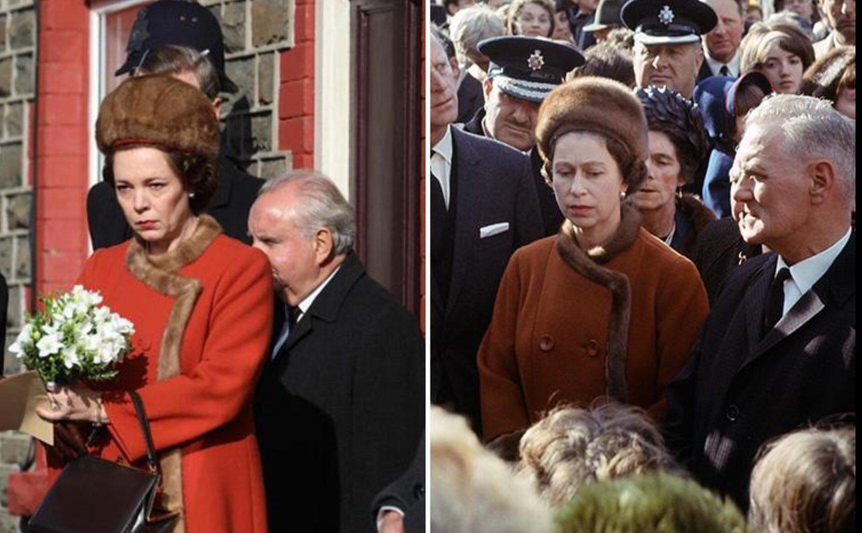 Η Ολίβια Κόλμαν αναπαριστά πιστά την βασίλισσα Ελισάβετ κατά την επίσκεψή της στο Aberfan