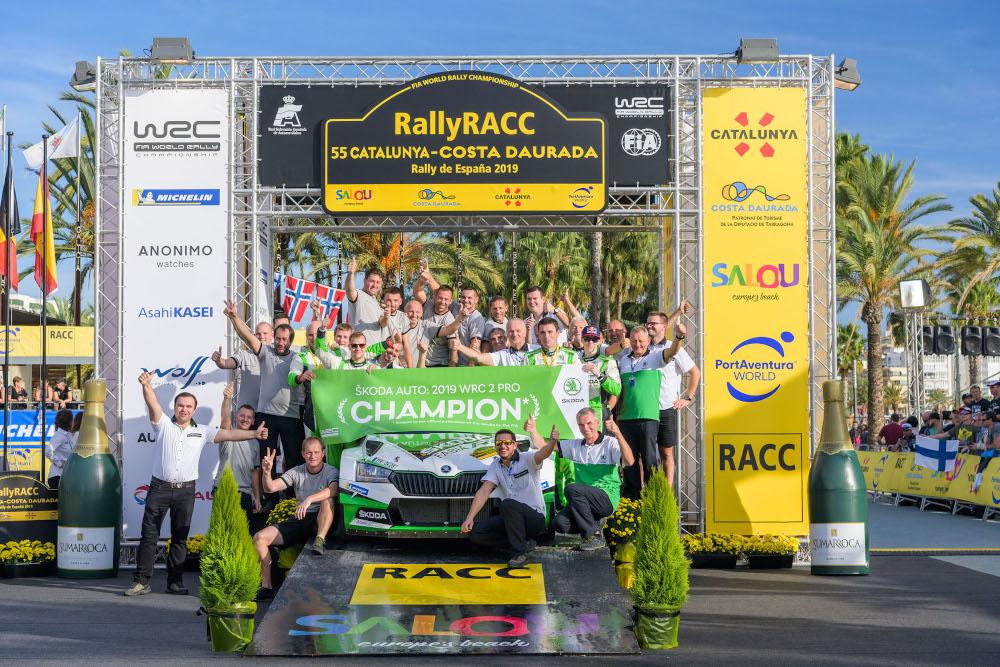 Η Skoda πολυνίκης σε WRC 2 Pro και WRC 2 το 2019