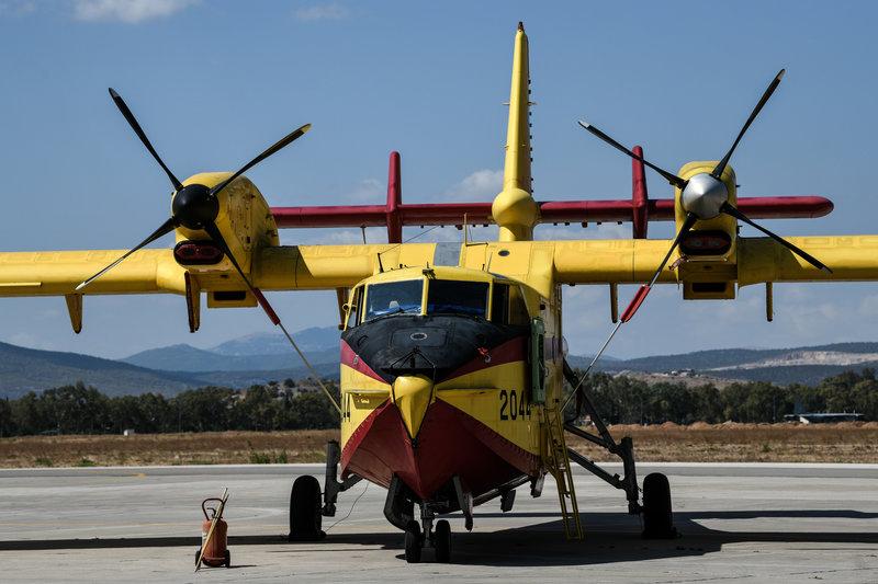 Ενα από τα δύο ελληνικά πυροσβεστικά αεροσκάφη που εντάχθηκαν στο RescEU