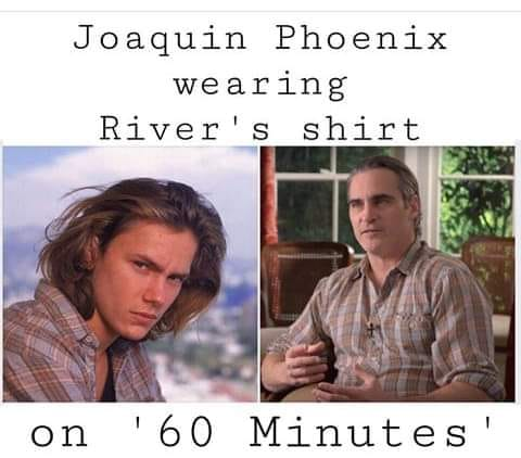 Κάποιο παρατήρησαν ότι ο Χοακίν Φίνιξ φορούσε το πουκάμισο του αδερφού του
