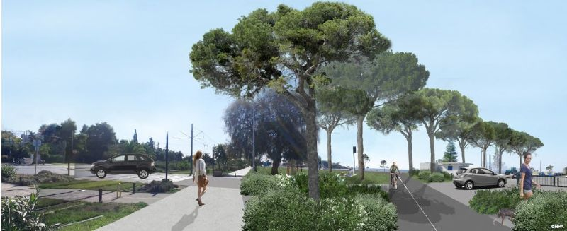 Πεζόδρομοι και ποδηλατόδρομοι θα κατασκευαστούν στο παραλιακό μέτωπο της Γλυφάδας
