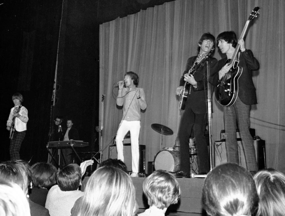 Το συγκρότημα των Rolling Stones σε συναυλία