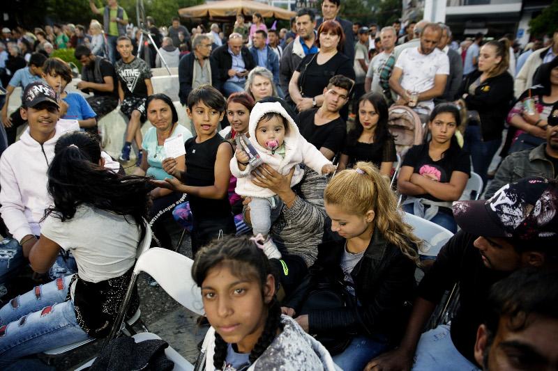 Πολλοί ρομά στην ομιλία Τσίπρα στην Λαμία