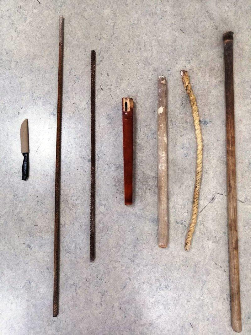 Τα όπλα που βρέθηκαν στην κατοχή των Ρομά