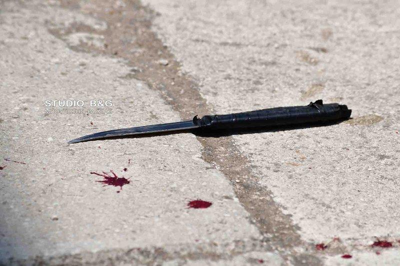 Μαχαίρι που χρησιμοποιήθηκε στη συμπλοκή