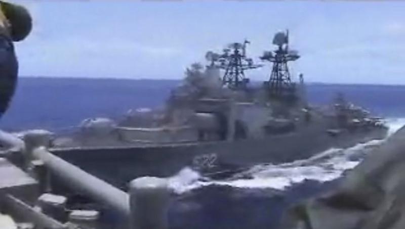 Στιγμιότυπο που έδωσε στη δημοσιότητα το Αμερικανικό Πολεμικό Ναυτικό/ Φωτογραφία: AP