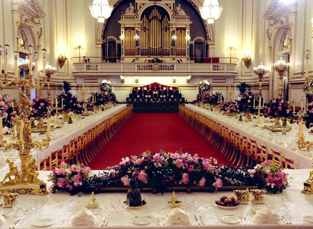 βασιλική δεξίωση στο παλάτι του Μπάκιγχαμ